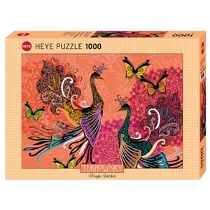 """Heye (29821) - Turnowsky: """"Peacocks & Butterflies"""" - 1000 pièces"""