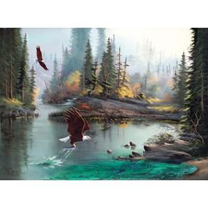"""SunsOut (53124) - Lionel Dougy: """"River Eagles"""" - 1000 pièces"""