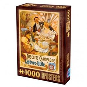 """D-Toys (67555-VP05) - """"Biscuits Champagne Lefevre-Utile"""" - 1000 pièces"""