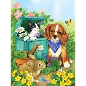 """SunsOut (16048) - Jane Maday: """"Precious Pets"""" - 500 pièces"""