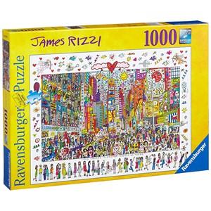 """Ravensburger (19069) - James Rizzi: """"Times Square, Tout le monde devrait y aller"""" - 1000 pièces"""