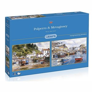 """Gibsons (G5019) - Terry Harrison: """"Mevagissey and Polperro"""" - 500 pièces"""