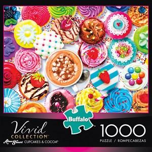"""Buffalo Games (11710) - Aimee Stewart: """"Cupcakes & Cocoa"""" - 1000 pièces"""