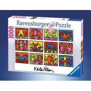"Ravensburger (15615) - Keith Haring: ""Rétrospective"" - 1000 pièces"