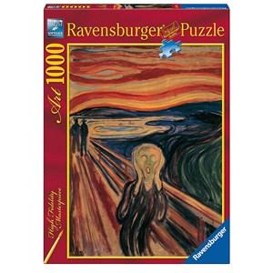 "Ravensburger (15758) - Edvard Munch: ""Le Cri"" - 1000 pièces"