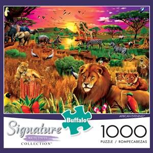 "Buffalo Games (1428) - Gerald Newton: ""African Evening"" - 1000 pièces"