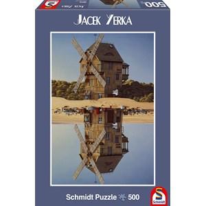 "Schmidt Spiele (59510) - Jacek Yerka: ""Reflection"" - 500 pièces"