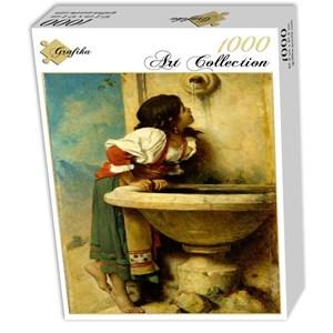 """Grafika (00453) - Leon Bonnat: """"Fille Romaine à la Fontaine, 1875"""" - 1000 pièces"""