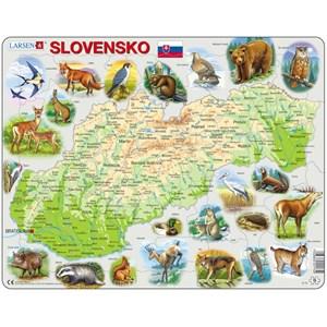 """Larsen (K73) - """"Carte de la Slovaquie avec ses Animaux (en Slovaque)"""" - 58 pièces"""