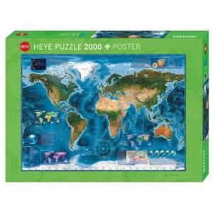 """Heye (29797) - Rajko Zigic: """"Carte Satellite du Monde"""" - 2000 pièces"""