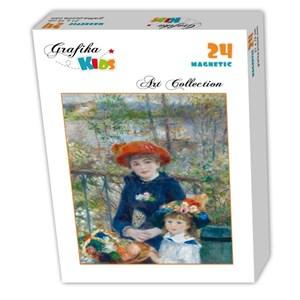 """Grafika Kids (00254) - Pierre-Auguste Renoir: """"Deux Soeurs sur la Terrasse, 1881"""" - 24 pièces"""