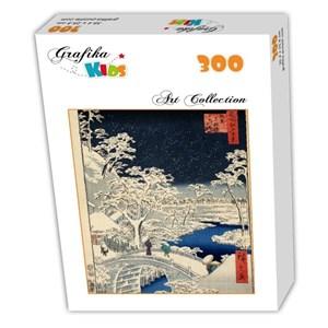 "Grafika Kids (00274) - Utagawa (Ando) Hiroshige: ""Drum bridge at Meguro and Sunset Hill, 1857"" - 300 pièces"