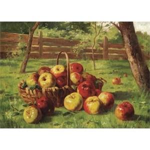 """Gold Puzzle (60768) - Karl Vikas: """"La Récolte de Pommes"""" - 500 pièces"""