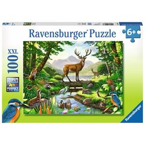 "Ravensburger (10568) - Chris Hiett: ""Woodland Harmony"" - 100 pièces"