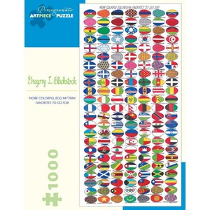 """Pomegranate (AA888) - Gregory Lee Blackstock: """"More Colorful Egg Pattern Favorites To Go For"""" - 1000 pièces"""
