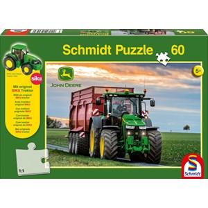 """Schmidt Spiele (56043) - """"John Deere, 8370R"""" - 60 pièces"""