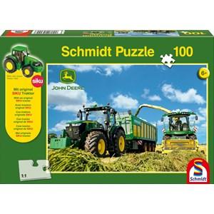 """Schmidt Spiele (56044) - """"John Deere, 7310R"""" - 100 pièces"""