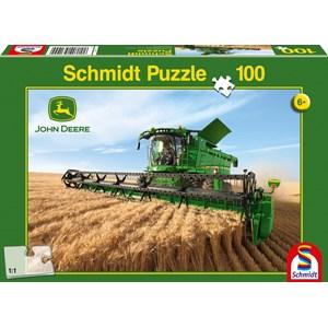 """Schmidt Spiele (56144) - """"John Deere, Harvester S690"""" - 100 pièces"""