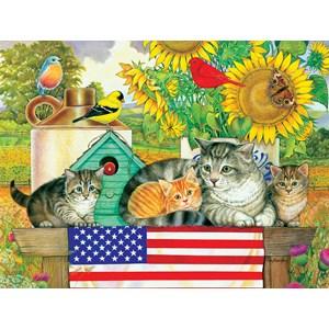 "SunsOut (71988) - Amy Rosenberg: ""Patriotic Kittens"" - 300 pièces"