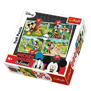 """Trefl (34261) - """"Mickey Mouse & Friends"""" - 35 48 54 70 pièces"""