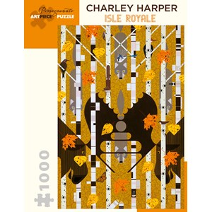 """Pomegranate (AA982) - Charley Harper: """"Isle Royale"""" - 1000 pièces"""