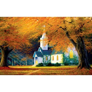"""SunsOut (48560) - Charles White: """"Church in the Glen"""" - 550 pièces"""
