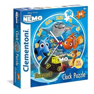 """Clementoni (23022) - """"Puzzle Clock, Nemo and Dory"""" - 96 pièces"""