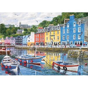 """Gibsons (G6058) - Terry Harrison: """"Fishing Port"""" - 1000 pièces"""