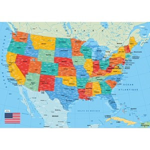 """Puzzle Michele Wilson (W84-50) - """"Map of the US"""" - 50 pièces"""