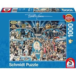 "Schmidt Spiele (59398) - Renato Casaro: ""Hollywood"" - 1000 pièces"
