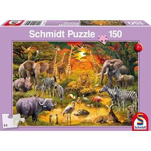 """Schmidt Spiele (56195) - """"Animaux d'Afrique"""" - 150 pièces"""