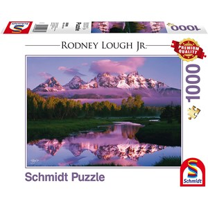 """Schmidt Spiele (59386) - Rodney Lough Jr.: """"Day Dreaming, The Grand Teton National Park, Wyoming"""" - 1000 pièces"""