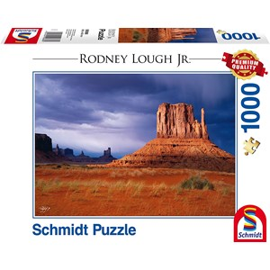 """Schmidt Spiele (59388) - Rodney Lough Jr.: """"Left Handed, Navajo Indian Tribal Reservation, Arizona"""" - 1000 pièces"""