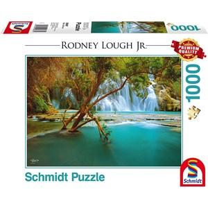 """Schmidt Spiele (59387) - Rodney Lough Jr.: """"Canyon Song, Havasupai Indian Reservation, Arizona"""" - 1000 pièces"""