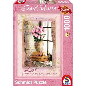 """Schmidt Spiele (59392) - Gail Marie: """"Love"""" - 1000 pièces"""
