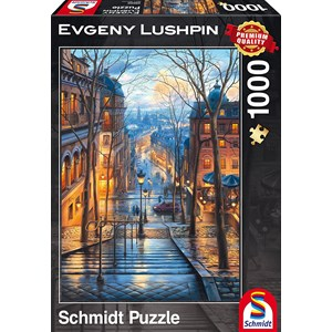 """Schmidt Spiele (59560) - Eugene Lushpin: """"Spring Morning in Montmartre"""" - 1000 pièces"""