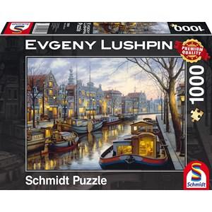 """Schmidt Spiele (59561) - Eugene Lushpin: """"Sur le Canal"""" - 1000 pièces"""