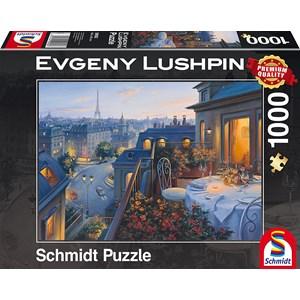 """Schmidt Spiele (59562) - Eugene Lushpin: """"Soirée à Paris"""" - 1000 pièces"""