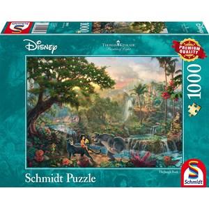 """Schmidt Spiele (59473) - Thomas Kinkade: """"Le Livre de la Jungle"""" - 1000 pièces"""