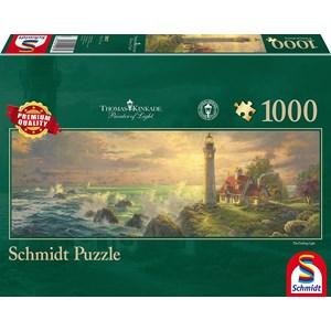 """Schmidt Spiele (59477) - Thomas Kinkade: """"Phare Idyllique"""" - 1000 pièces"""