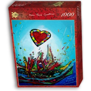 """Grafika (02458) - Anne Poire, Patrick Guallino: """"Eclats d'Amour"""" - 1000 pièces"""