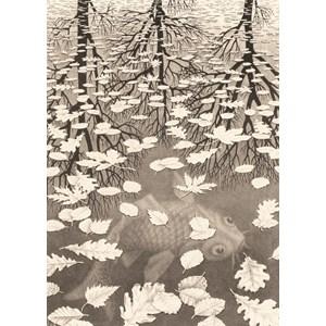 """PuzzelMan (861) - M. C. Escher: """"Three Worlds"""" - 1000 pièces"""