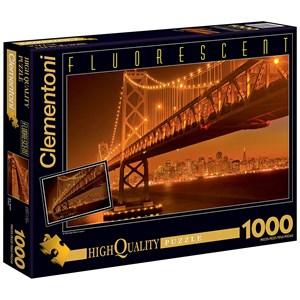 "Clementoni (39175) - ""San Francisco by Night"" - 1000 pièces"
