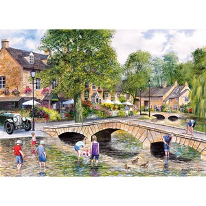"""Gibsons (G6072) - Terry Harrison: """"Bourton on the Water"""" - 1000 pièces"""