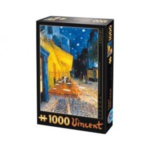 """D-Toys (66916-VG09) - Vincent van Gogh: """"Arles, Terrasse du café le soir, Place du Forum"""" - 1000 pièces"""