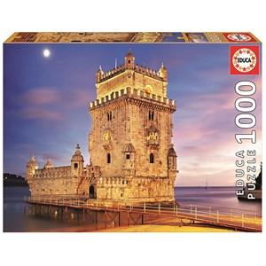 """Educa (17195) - """"Torre de Belém, Lisbon"""" - 1000 pièces"""