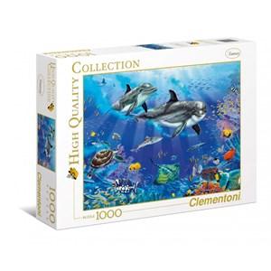 """Clementoni (94051) - Christian Riese Lassen: """"Dolphins"""" - 1000 pièces"""
