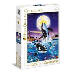 """Clementoni (94052) - Christian Riese Lassen: """"Killer whales"""" - 1000 pièces"""