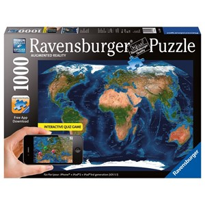 "Ravensburger (19308) - ""World Map"" - 1000 pièces"