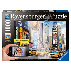 """Ravensburger (19306) - """"Colorful Activity at Times Square, New York"""" - 1000 pièces"""